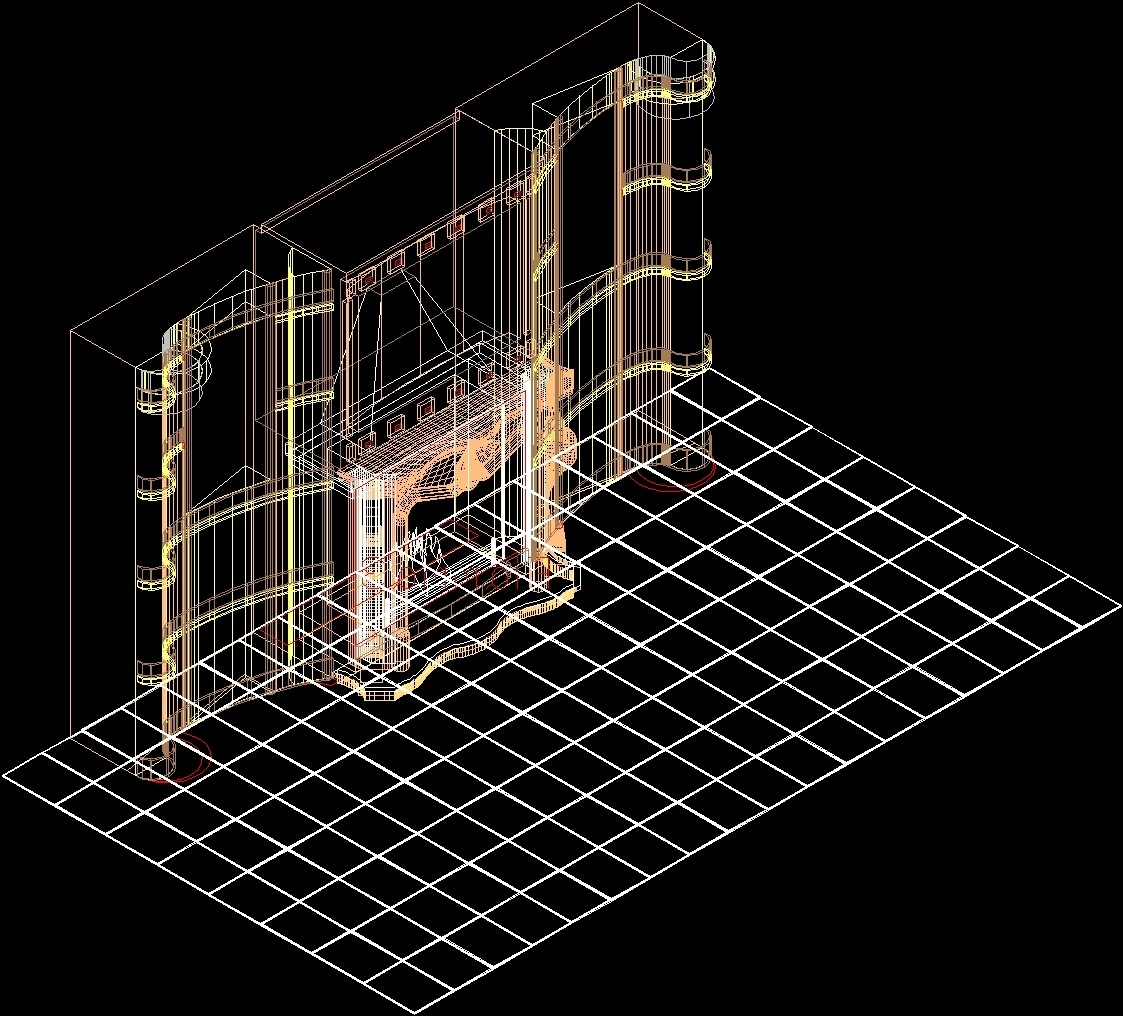 Fireplace - Home 3D DWG Model for AutoCAD • Designs CAD