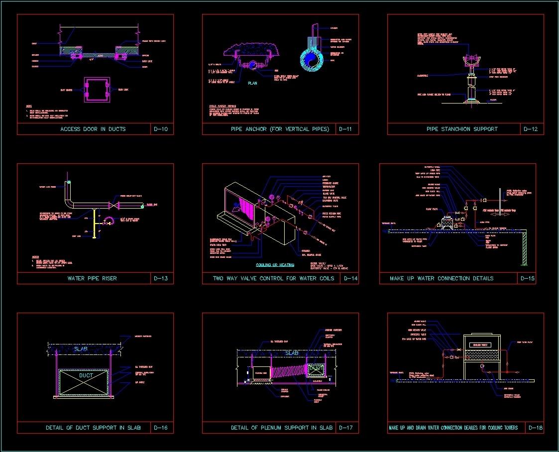 H V A C Standard Installation Detail Dwg For Autocad Hvac Drawing Download File Type