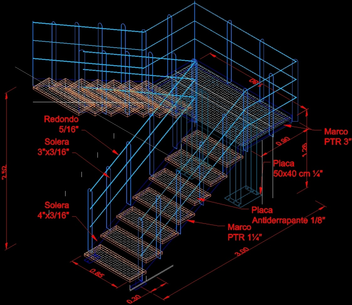 Herreria Ladder 3d Dwg Model For Autocad Designs Cad