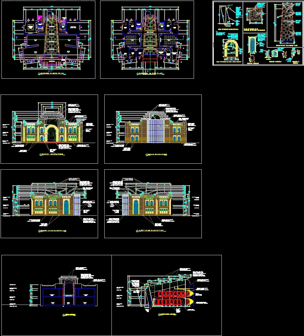 Islamic Style Museum Dwg Block For Autocad Designs Cad