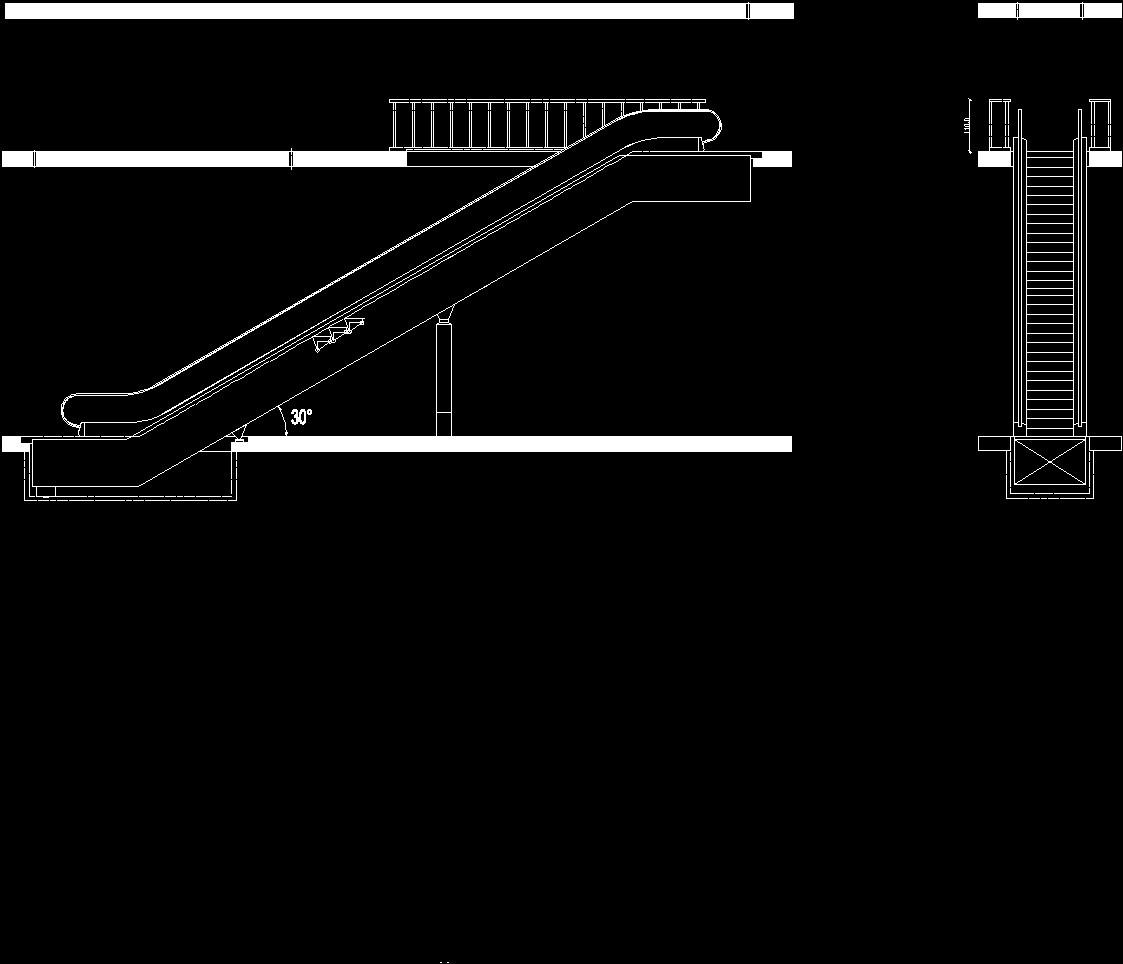 Escalator Front Elevation Dwg : Kone escalator dwg elevation for autocad designs cad