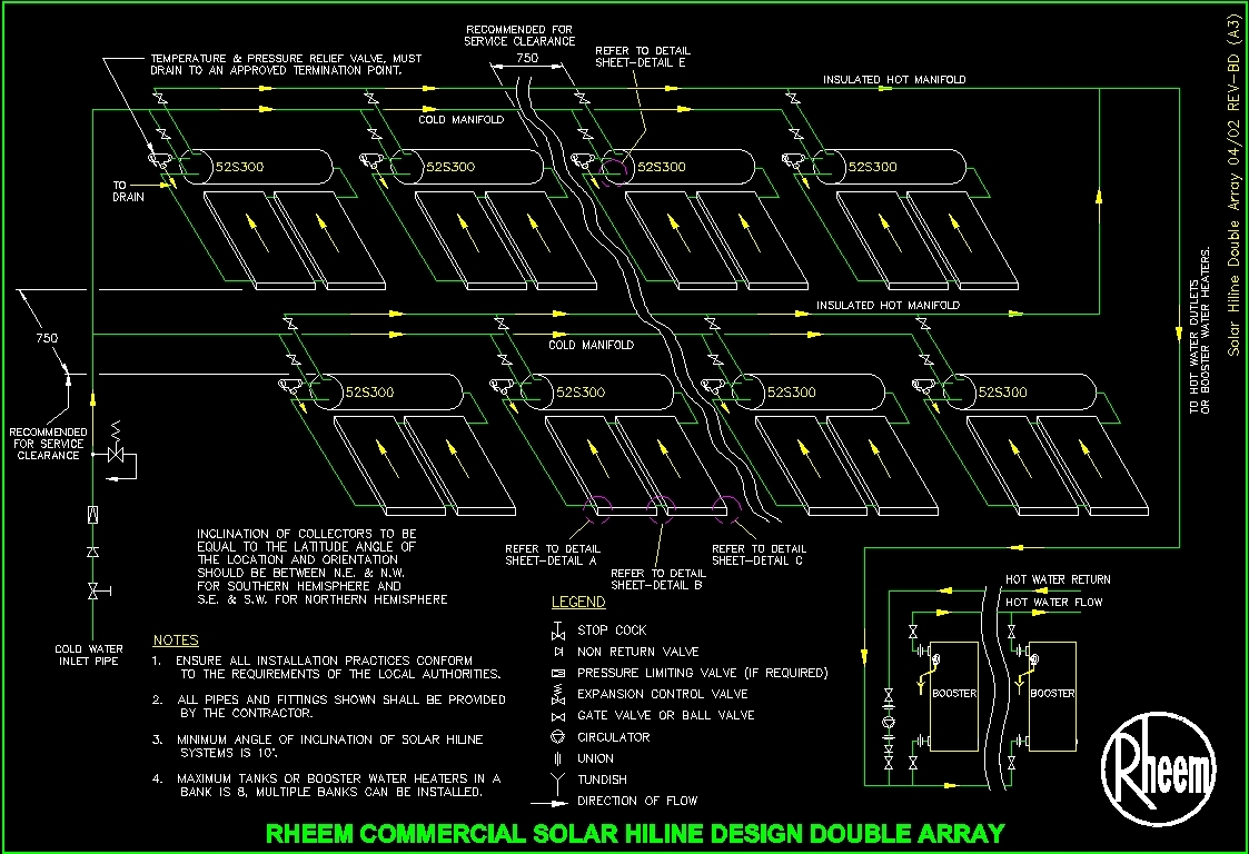 Plane Solar Collectors Dwg Block For Autocad Designs Cad