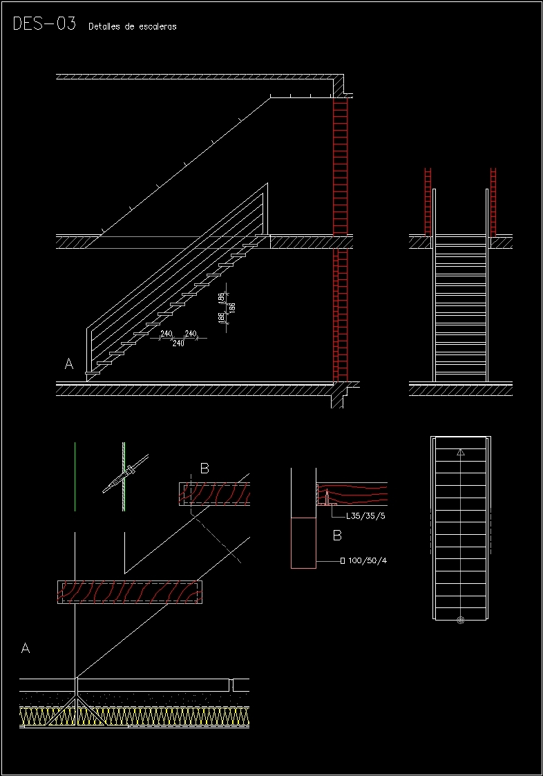 Plans Detailing Stairways Dwg Plan For Autocad Designs Cad