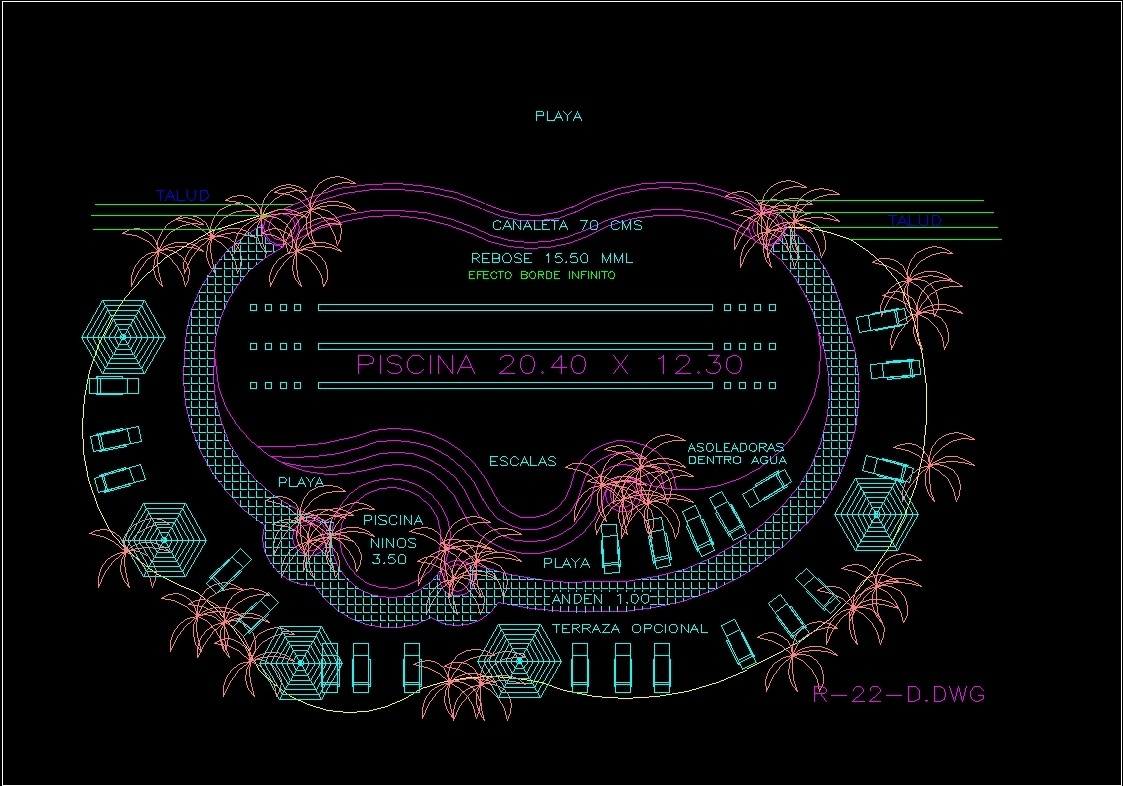 Pool Plant Dwg Block For Autocad Designs Cad