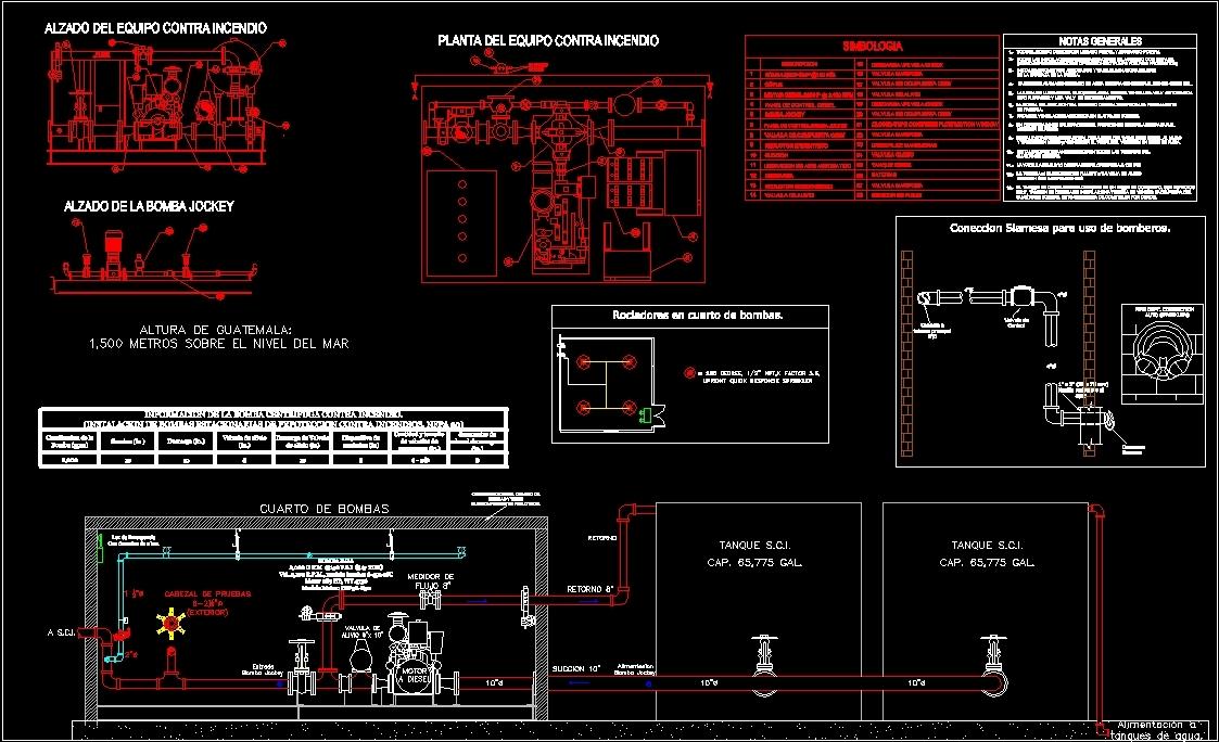 Pump room dwg block for autocad designs cad