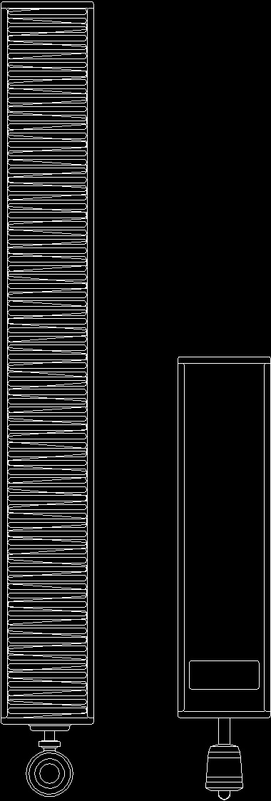 Radiator 2d dwg block for autocad designscad for Radiador dwg