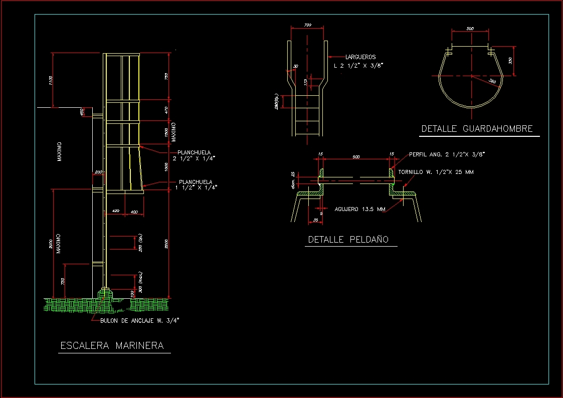 Seafaring Stairway Dwg Block For Autocad Designs Cad