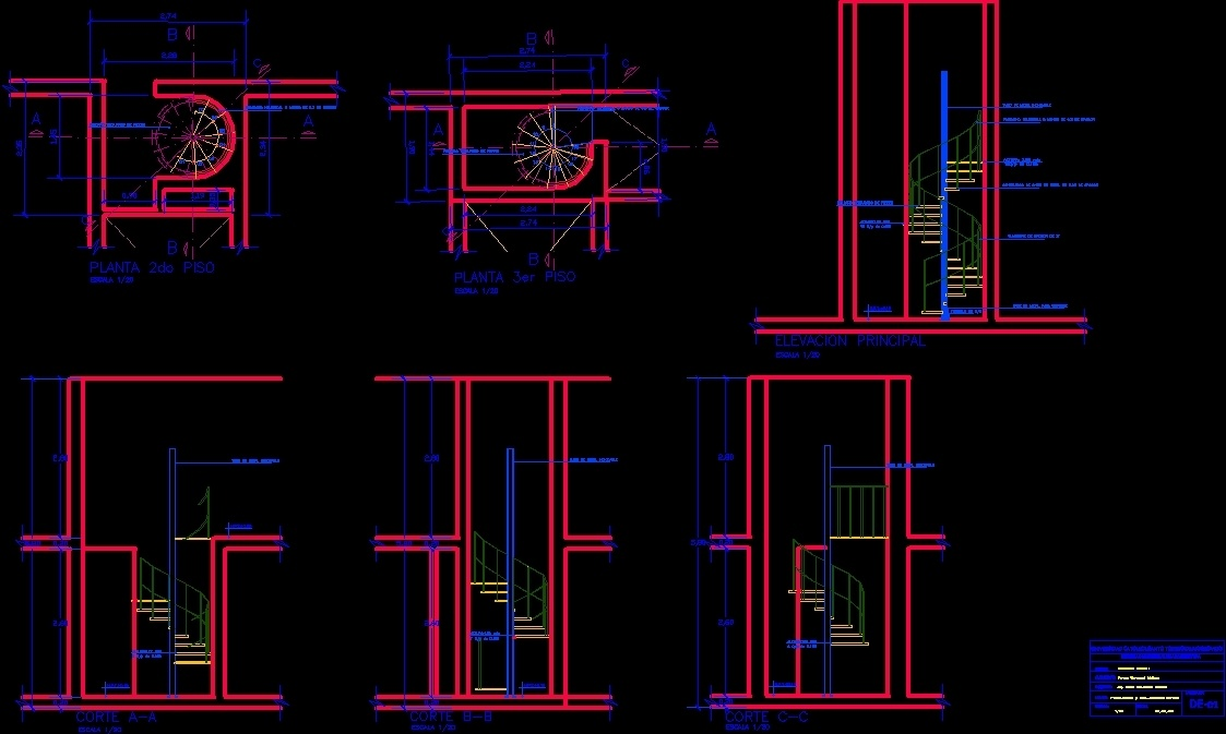 Spiral staircase detail dwg detail for autocad designs cad for Spiral stair dwg