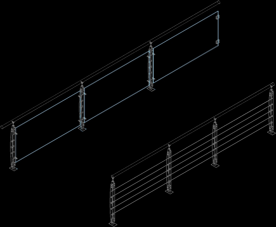 Stainless Steel Handrails Dwg Block For Autocad Designs Cad