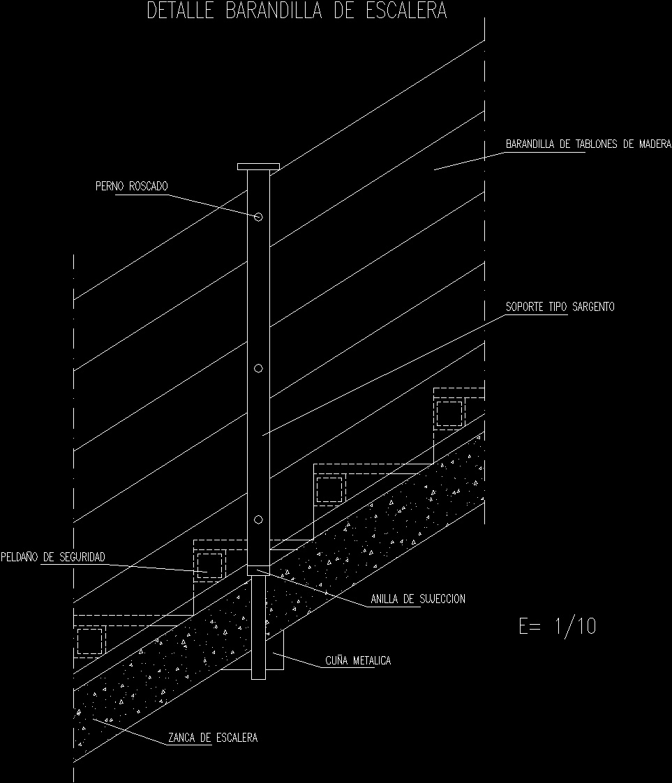 Stair railing detail dwg detail for autocad designs cad for Detalles autocad