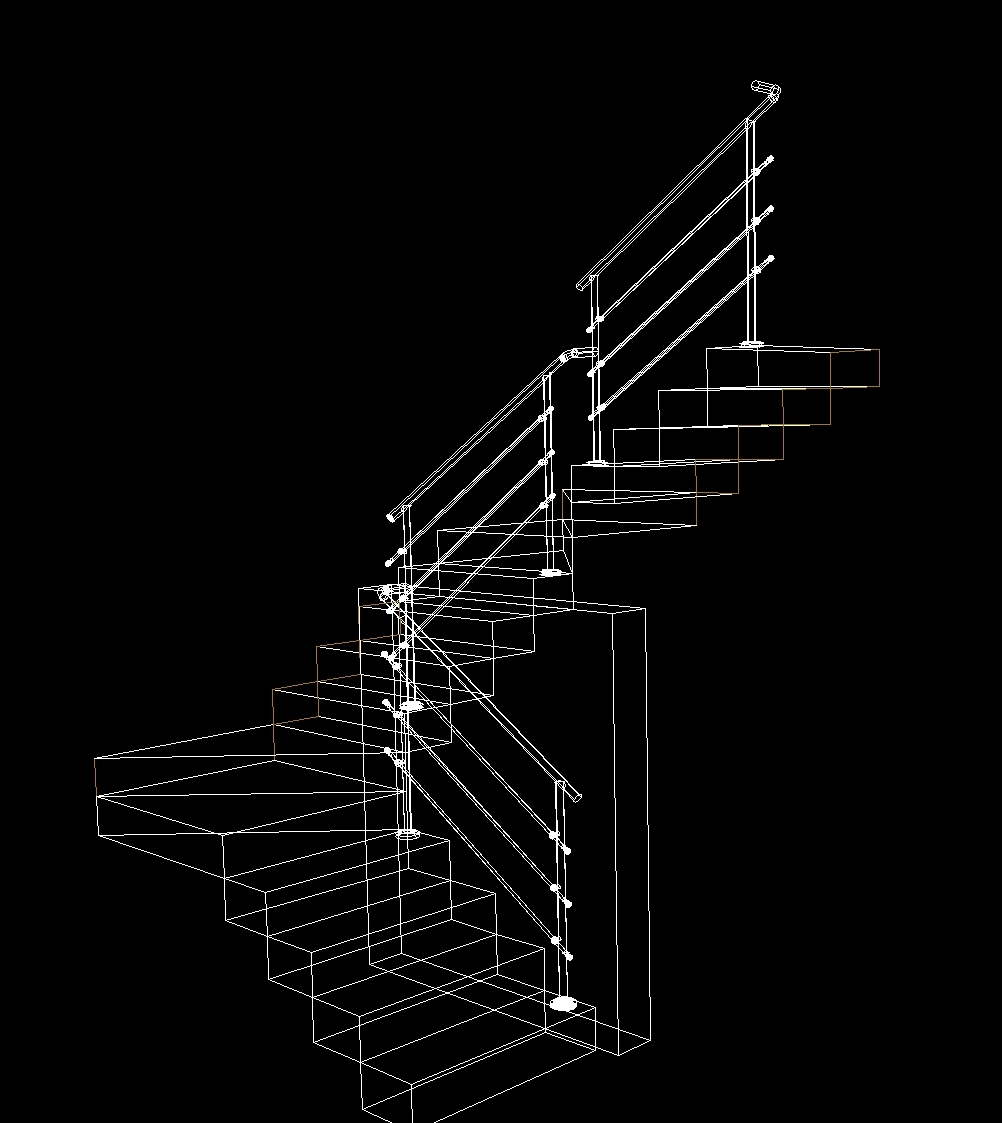 stair railing dwg block  autocad designs cad