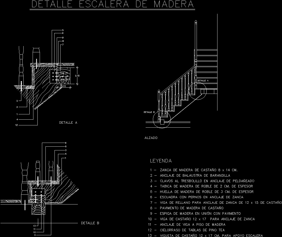 Staircase Detail DWG Detail For AutoCAD • Designs CAD