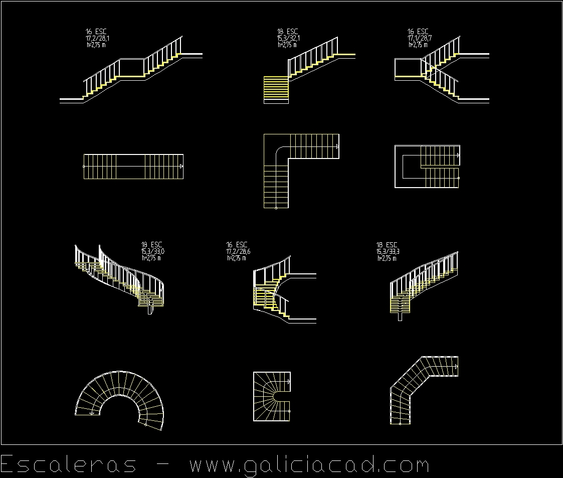 Stairs Dwg Block For Autocad Designscad
