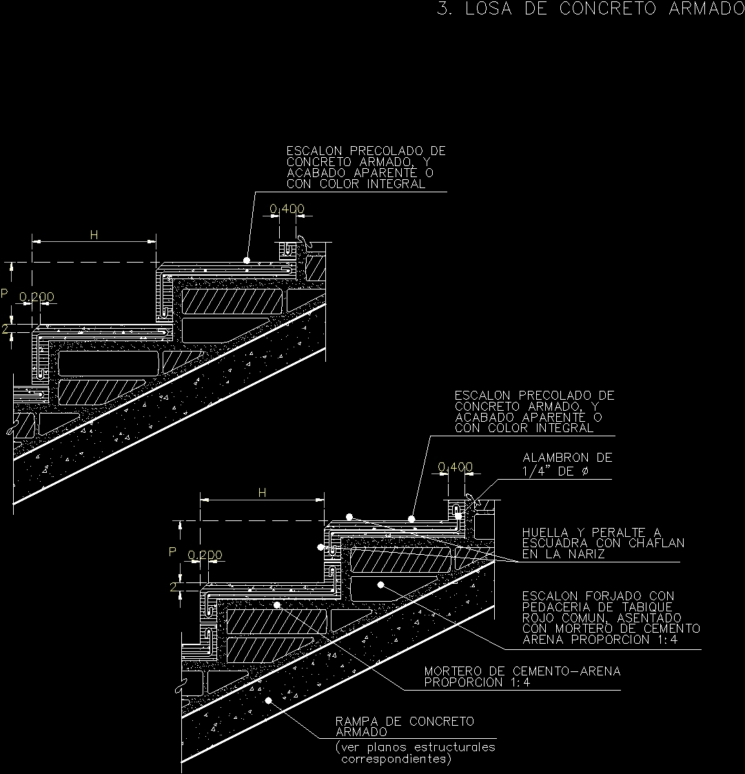Stairway Section DWG Section For AutoCAD