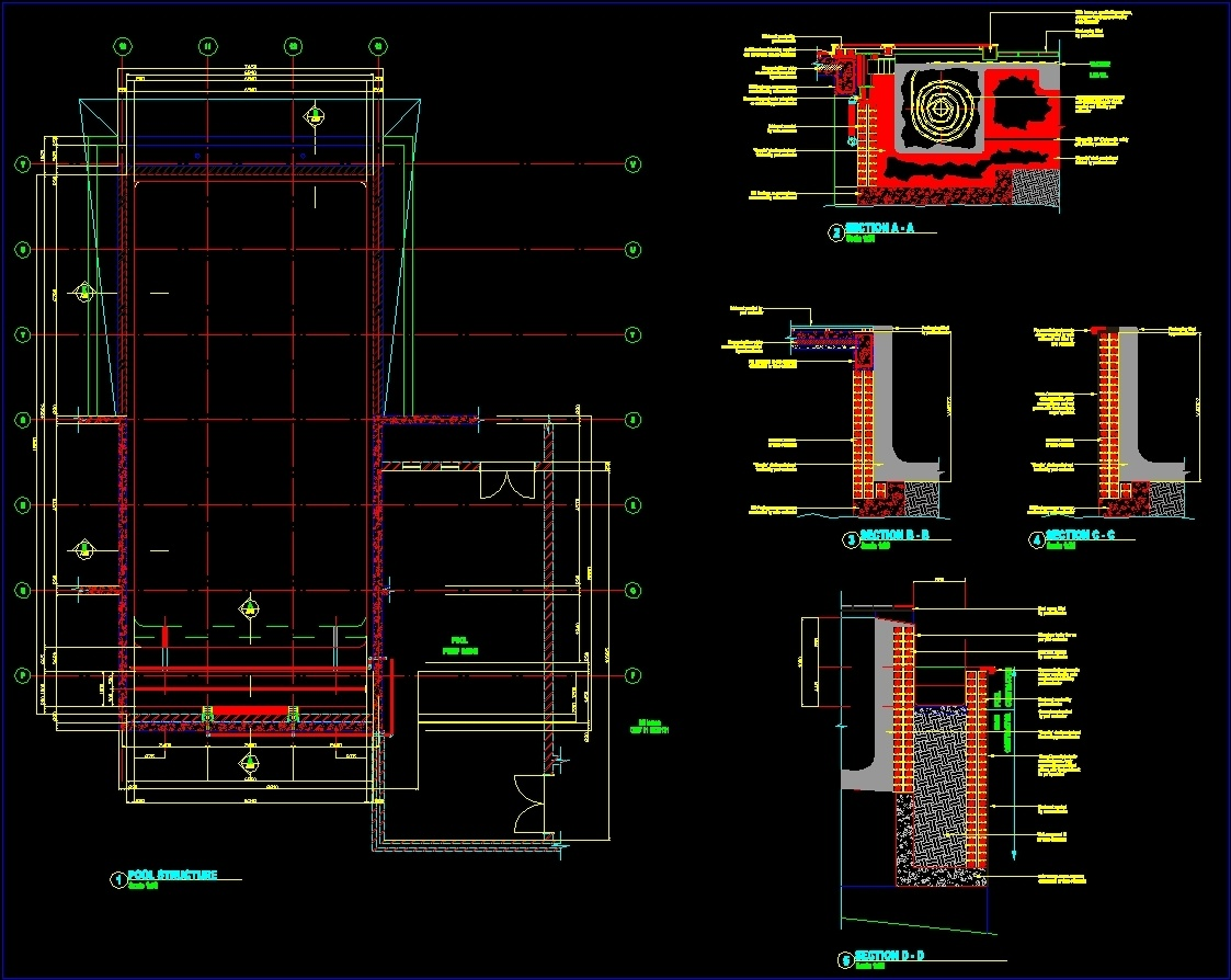 Swimming pool dwg block for autocad designs cad for Swimming pool design xls