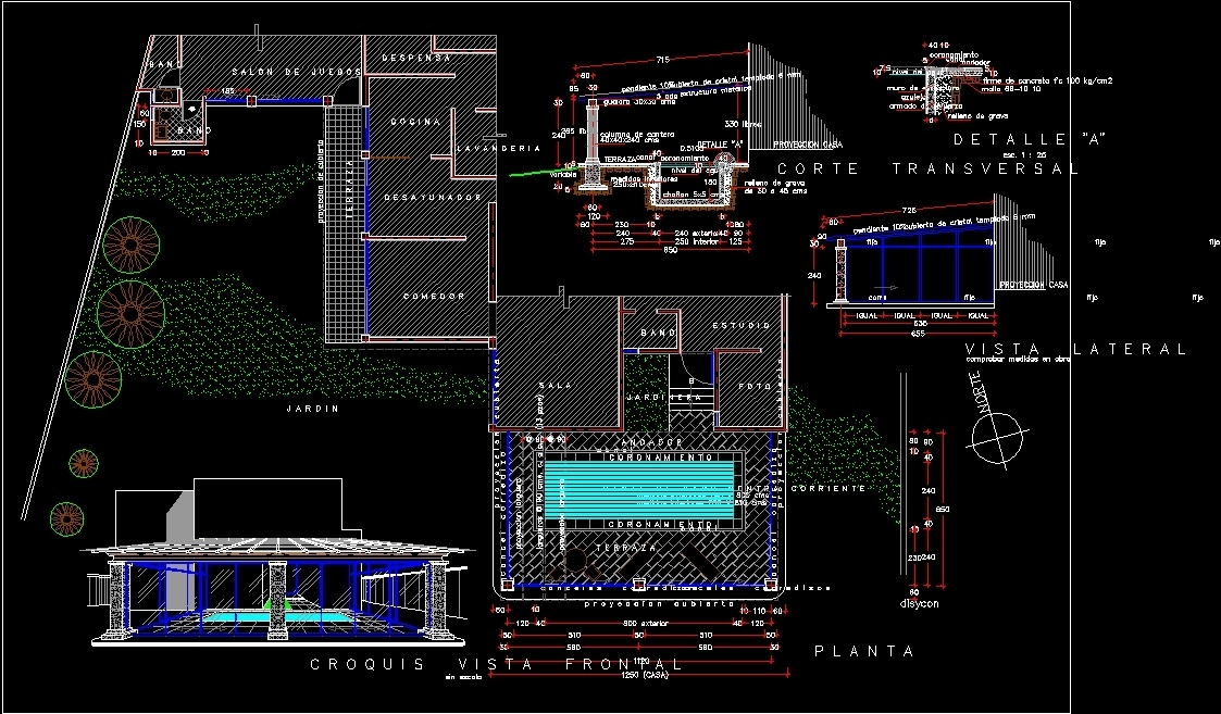 Swimming pool dwg block for autocad designs cad for Piscina dwg