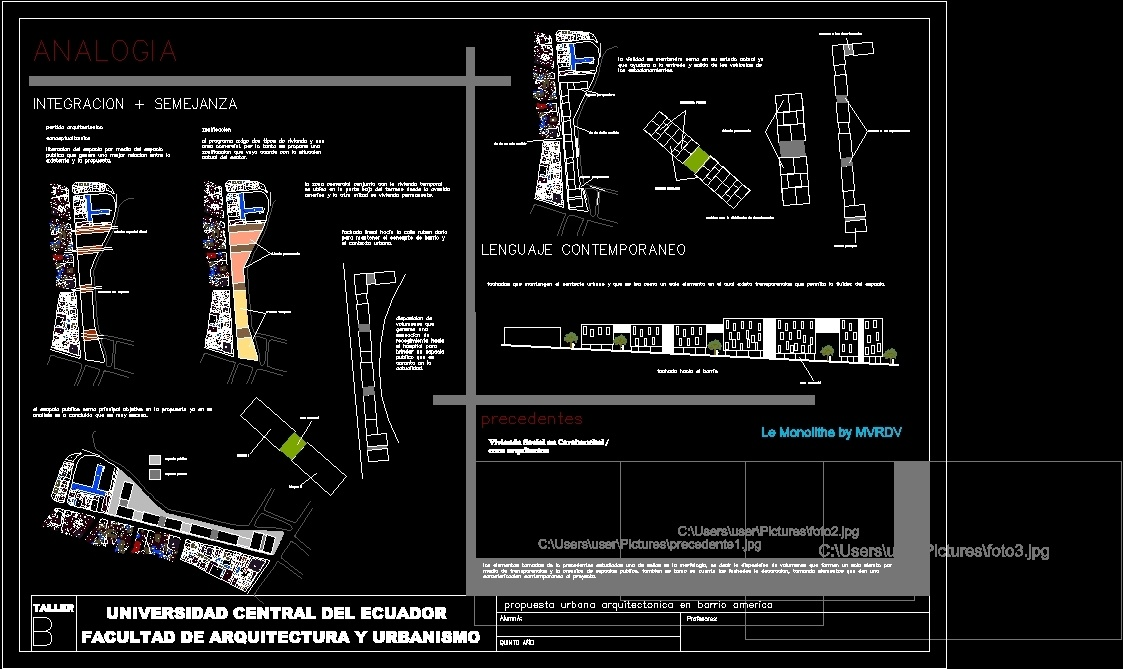 Urban Development In San Jose De Minas DWG Block for AutoCAD