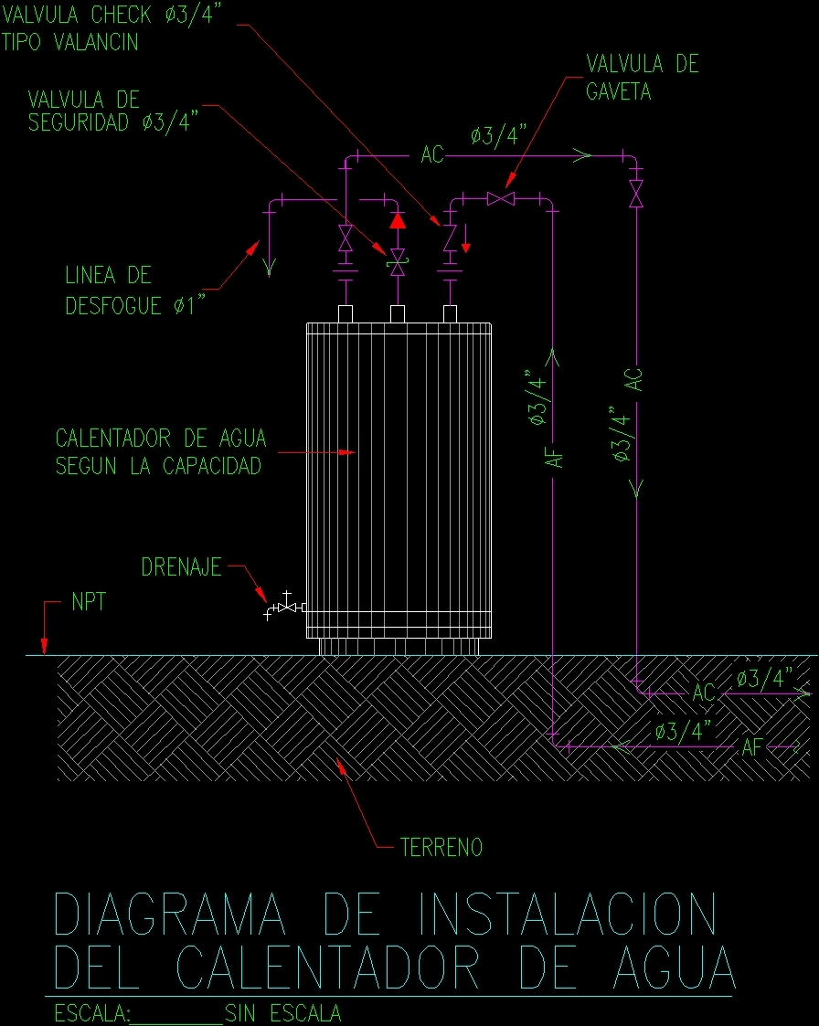 Water Heater DWG Block for AutoCAD bull Designs CAD