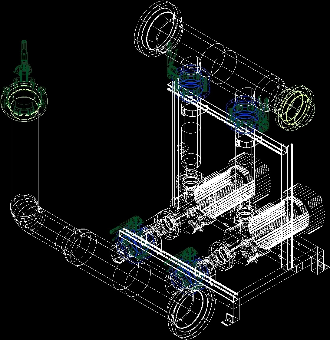 Water pumping system 3d dwg model for autocad designscad Cad system