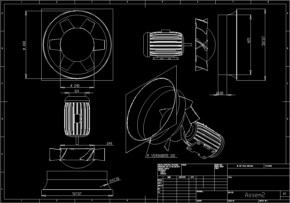 Axial Fan Dwg Block For Autocad Designs Cad