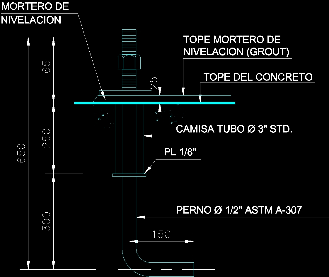 Bolt Dwg Detail For Autocad Designs Cad