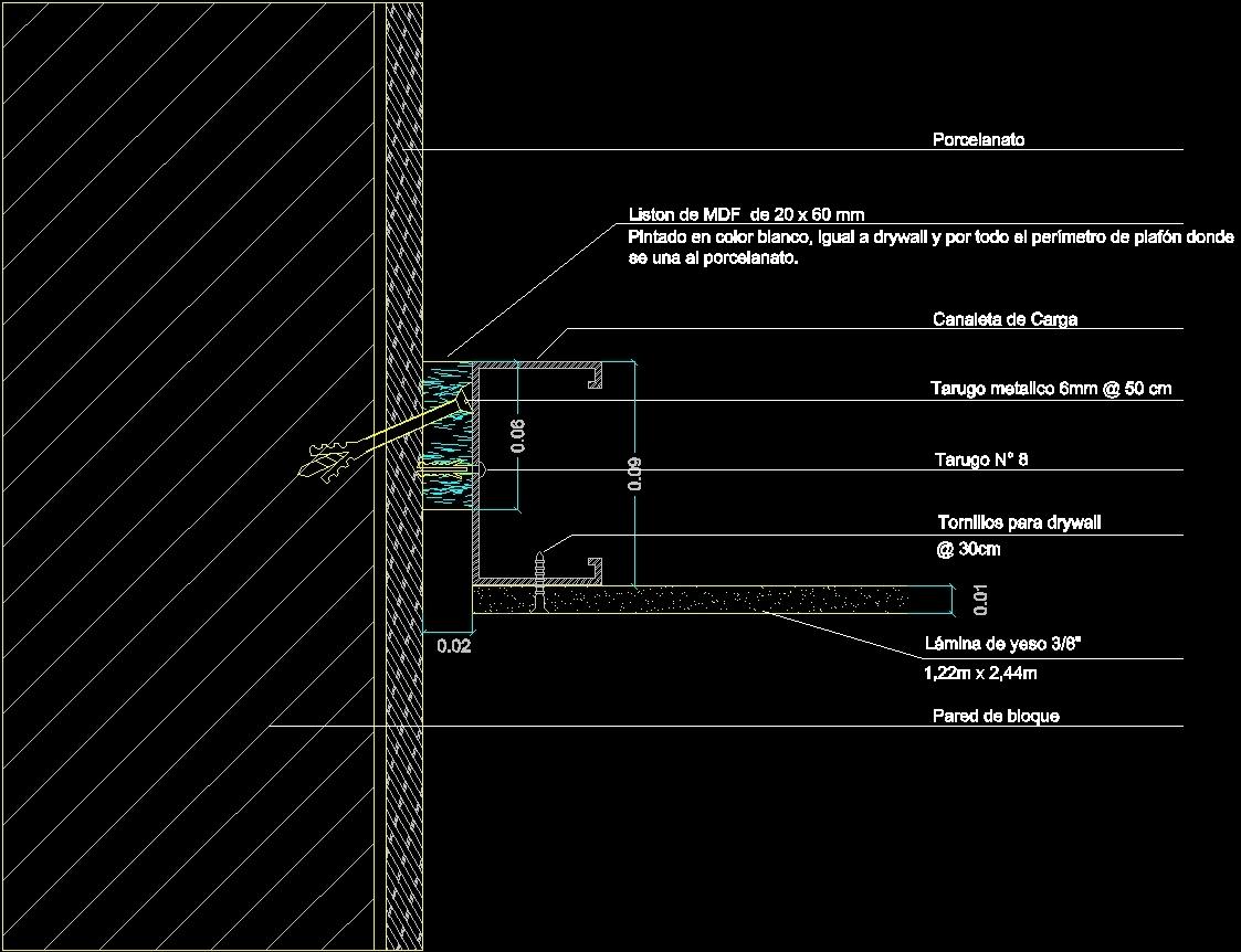 acoustic ceiling tile cad details