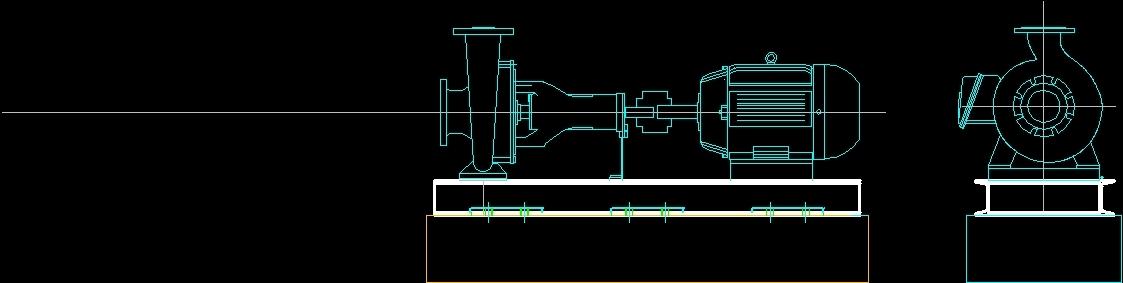 Centrifugal pump 2d autocad block