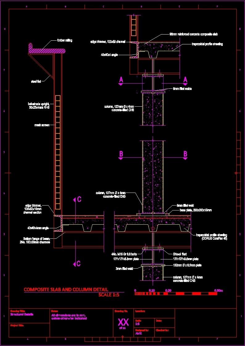 Composite Construction Dwg Block For Autocad Designs Cad