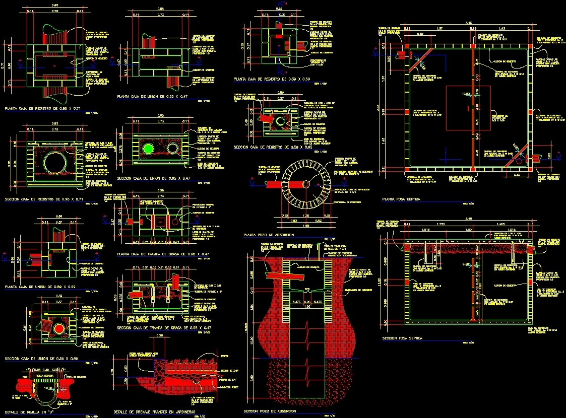 construction details for project planning dwg full project