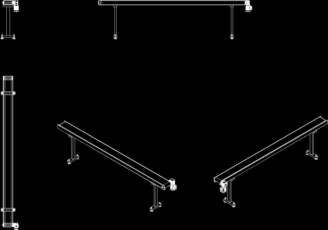conveyor belt iso 2d dwg block for autocad  u2013 designs cad