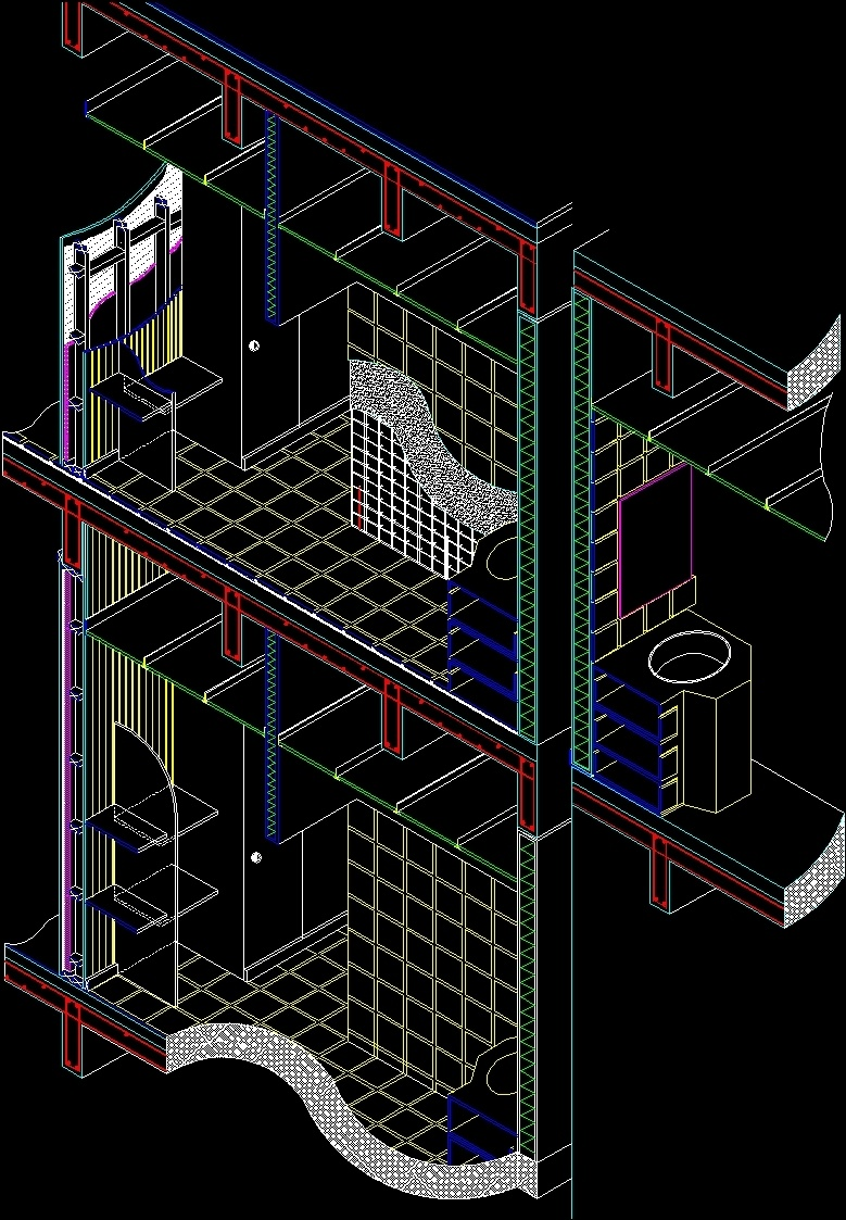 Convitex Detail Of Staircase And Wall Truss 3d Dwg