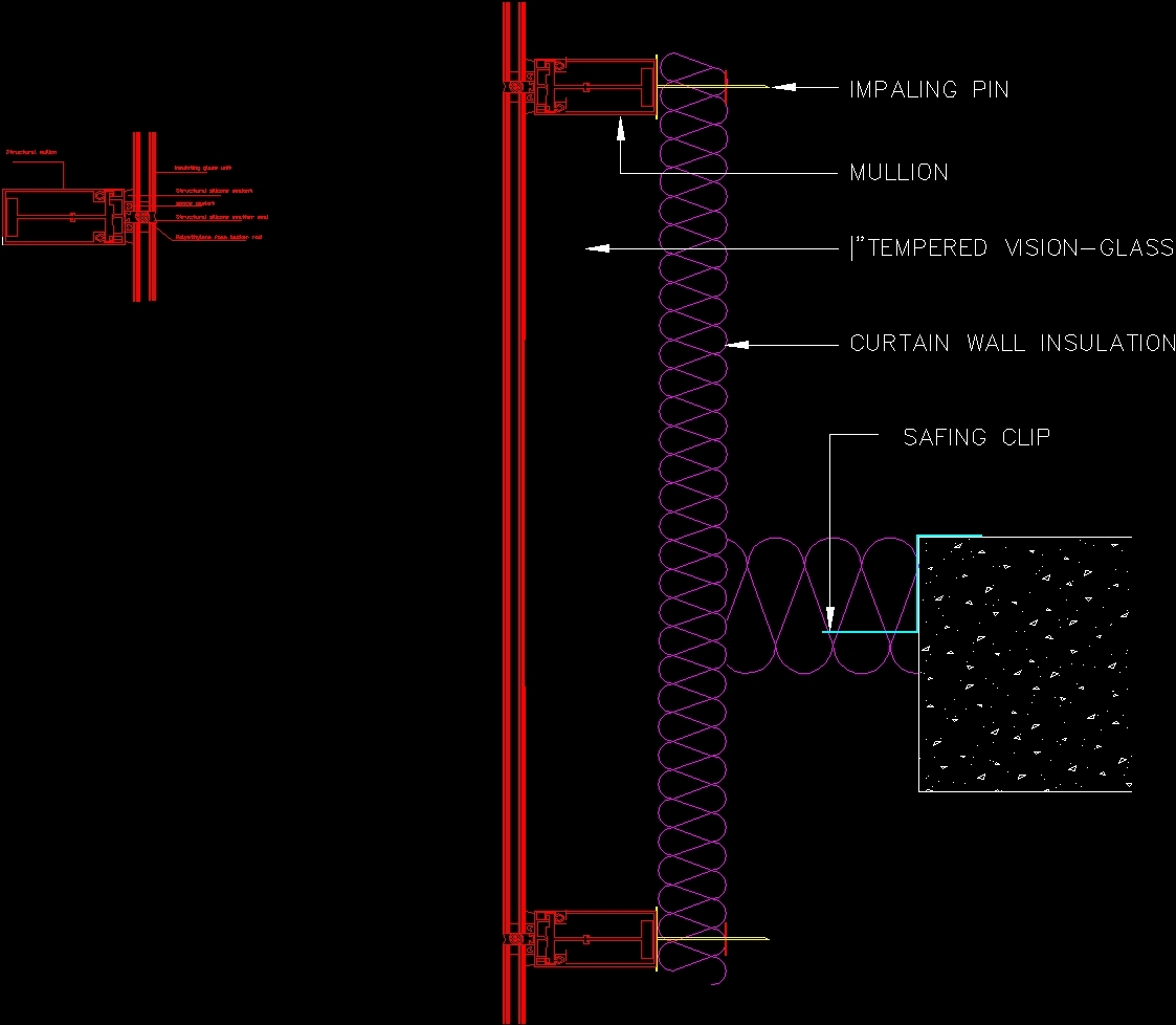 Curtain wall dwg detail for autocad designs cad for Wall to wall curtain
