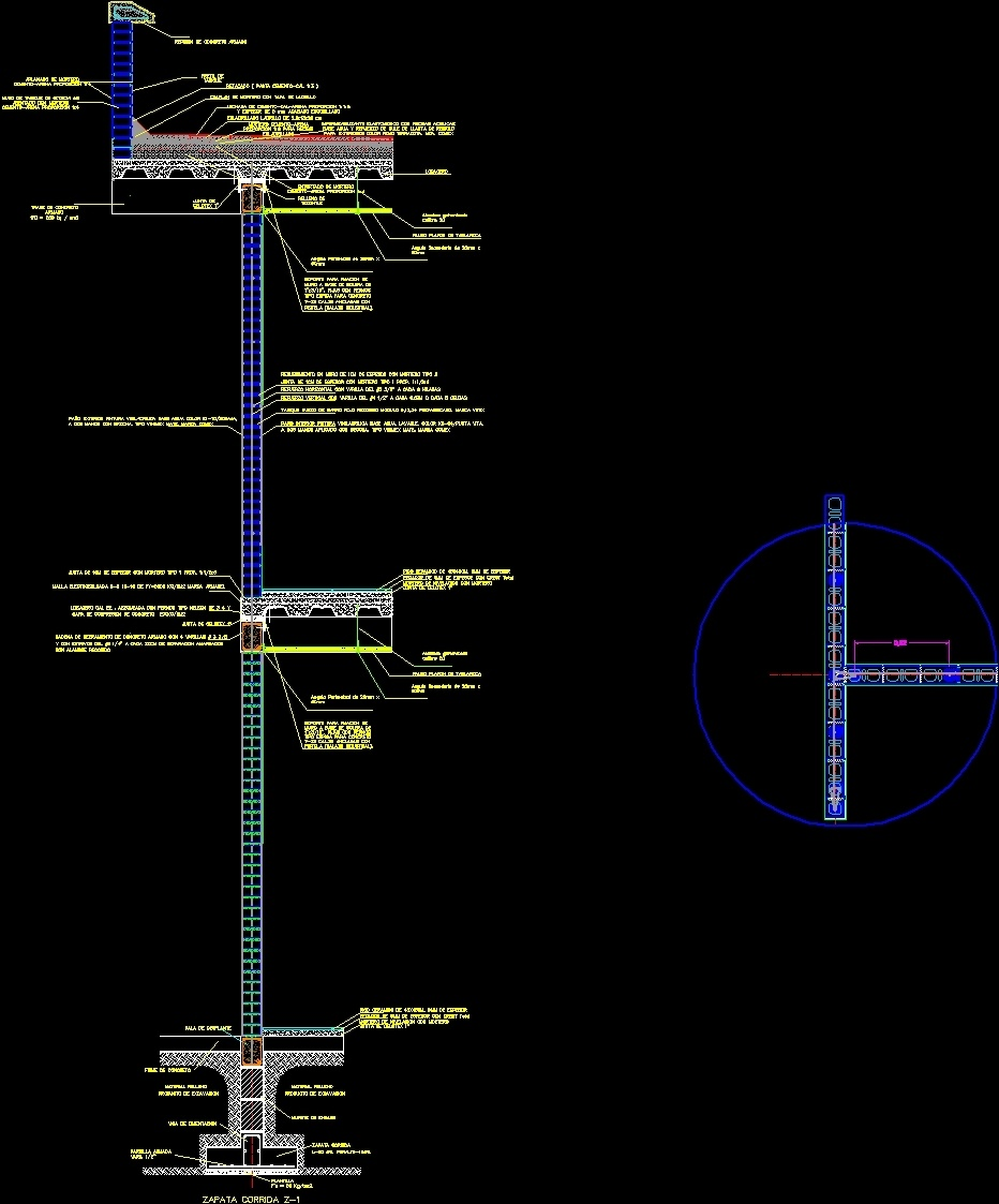 Detail Hollow Partition Wall And Slab Steel DWG Plan for AutoCAD ...