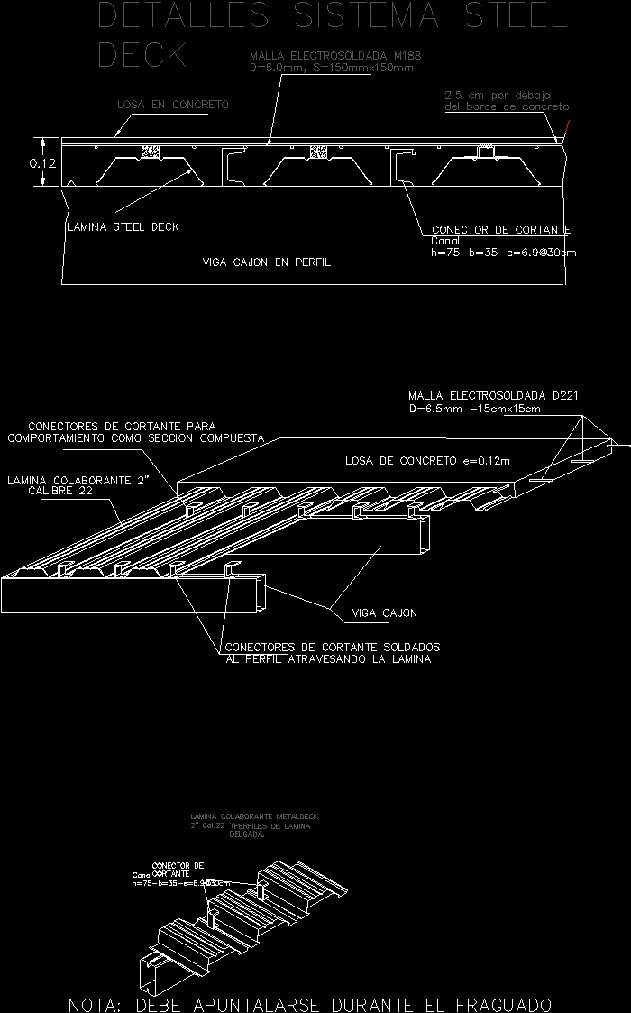 detail of slab in steel deck dwg detail for autocad  u2013 designs cad