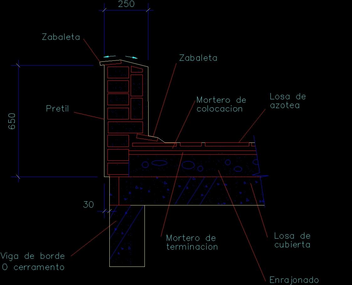 Detail Of Weld Parapet Dwg Detail For Autocad Designs Cad