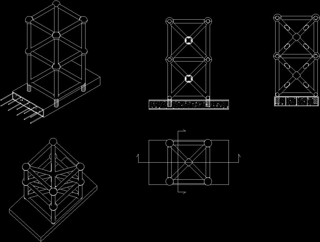 Detail Spaceframe DWG Detail for AutoCAD • Designs CAD