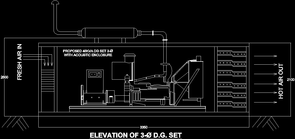 Diesel Generator Dwg Block For Autocad Designs Cad