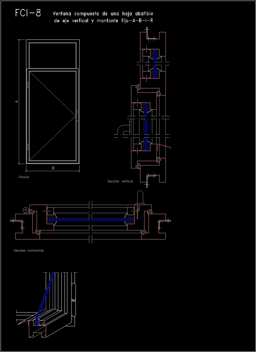 Doors and windows dwg detail for