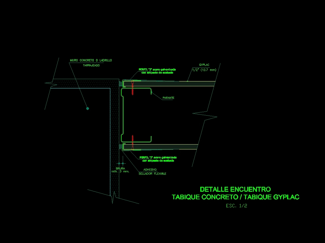 Drywall Detail 10 : Drywall details dwg detail for autocad designs cad