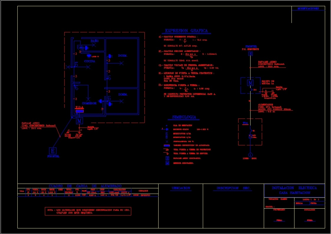 Electrical Schematic Autocad For Basic Housing Dwg Block Additional Screenshots