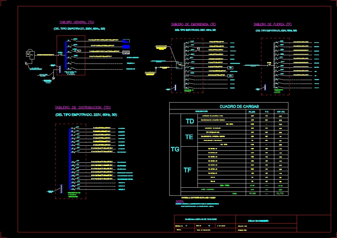 Electrical Wiring Schematic Office Dwg Block For Autocad Designs Cad Diagram Additional Screenshots