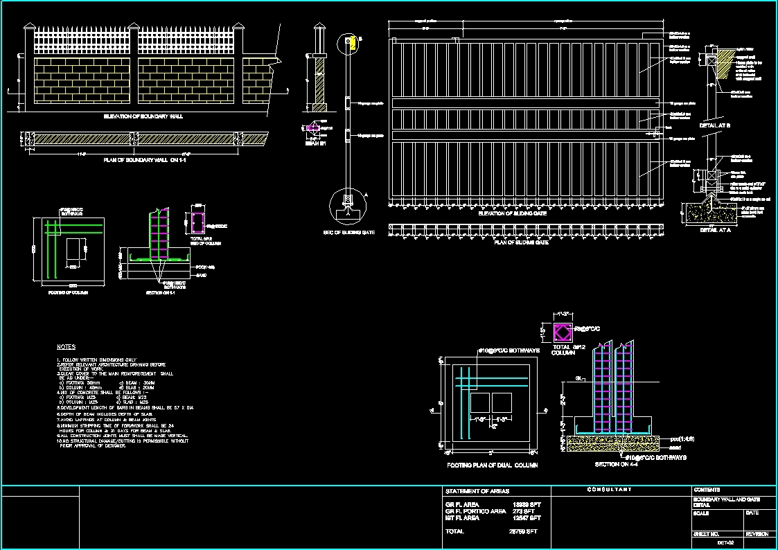 Gate Dwg Detail For Autocad Designs Cad