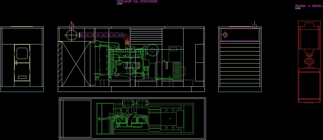 Generator And Pumps Dwg Block For Autocad Designs Cad