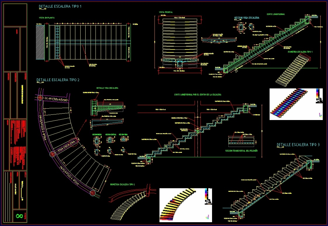 Herringbone Spiral Staircase Earthquake Resistant Dwg