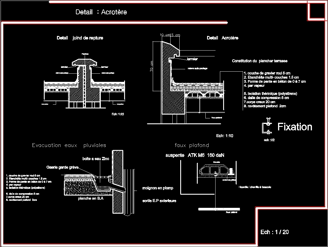 Joints Parapet Dwg Block For Autocad Designs Cad