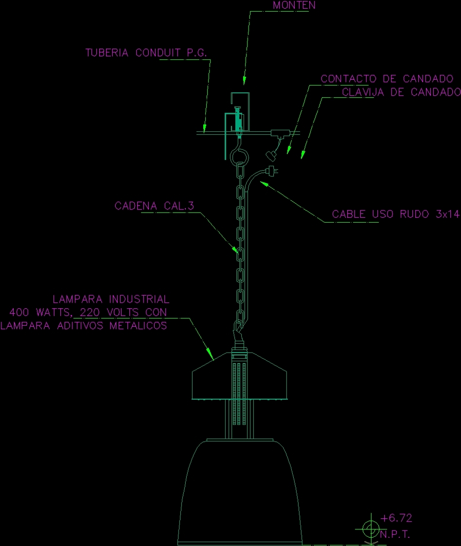 Details Hanging Lamp Dwg Detail For Autocad Designs Cad: Lamp 200 DWG Detail For AutoCAD • Designs CAD