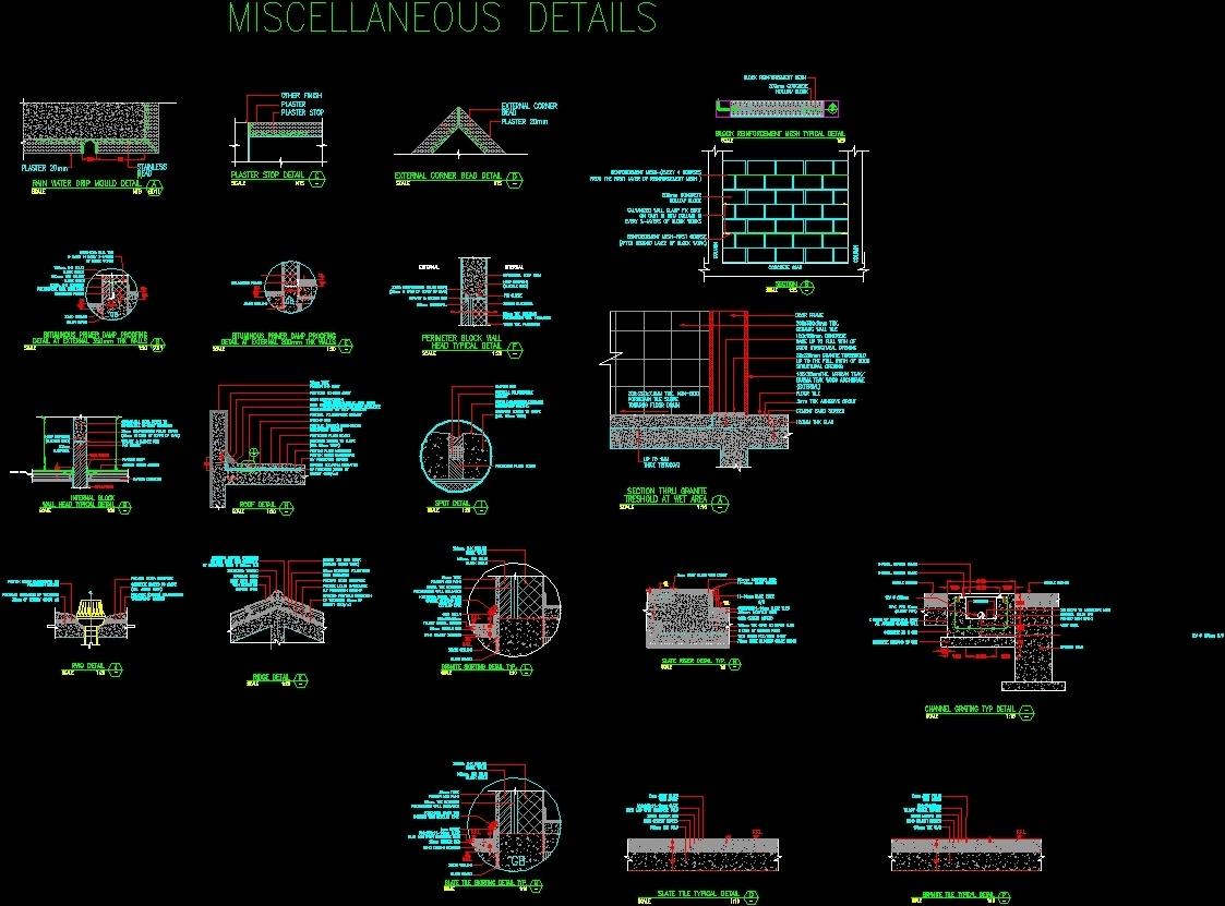 Miscellaneous Details Dwg Detail For Autocad Designs Cad