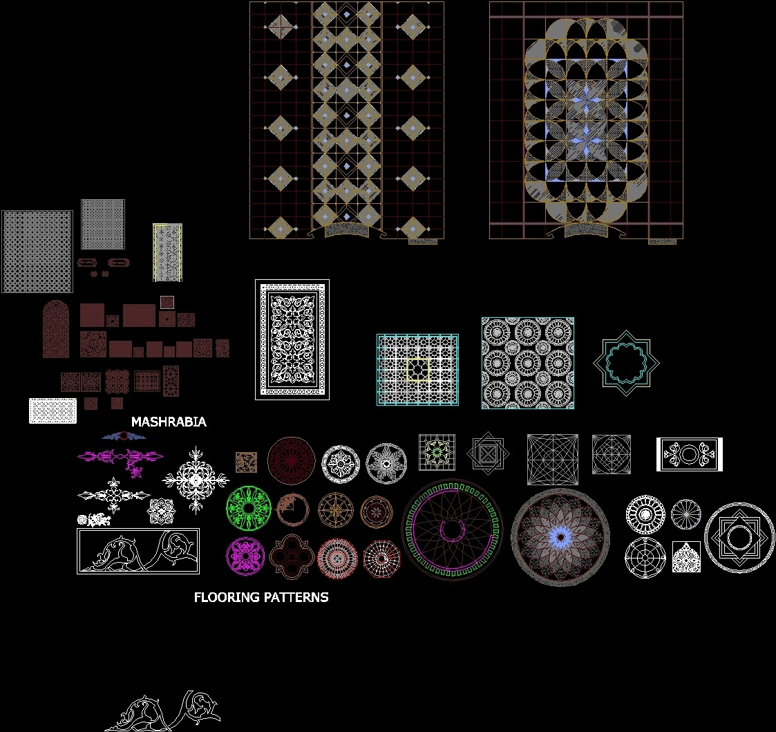 Patterns All Dwg Block For Autocad Designs Cad
