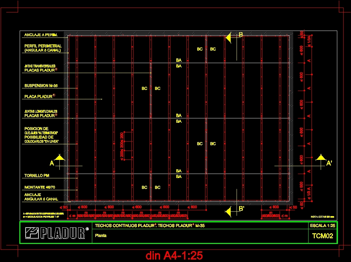 Pladur Roofs M 35 Dwg Block For Autocad Designs Cad