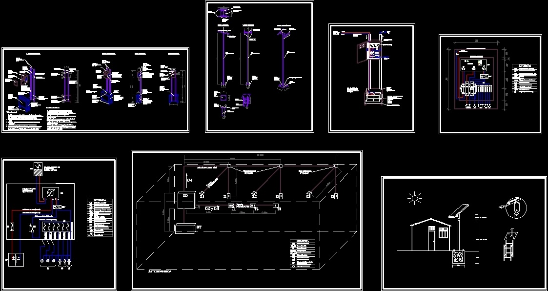 Plates Of Solar Panel Detail Dwg Detail For Autocad